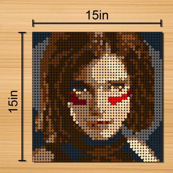 Alita Pixel Art Movie MOC-90113 with 2304 Pieces