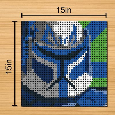 Star Wars Clones Pixel Art Movie MOC-90114 with 2304 Pieces