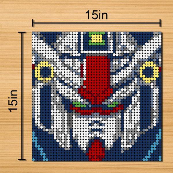 GUNDAM Pixel Art Movie MOC-90122 with 2304 Pieces