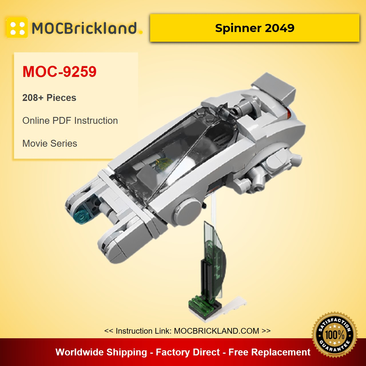 Spinner 2049 MOC-9259 Movie Designed By gol With 208 Pieces