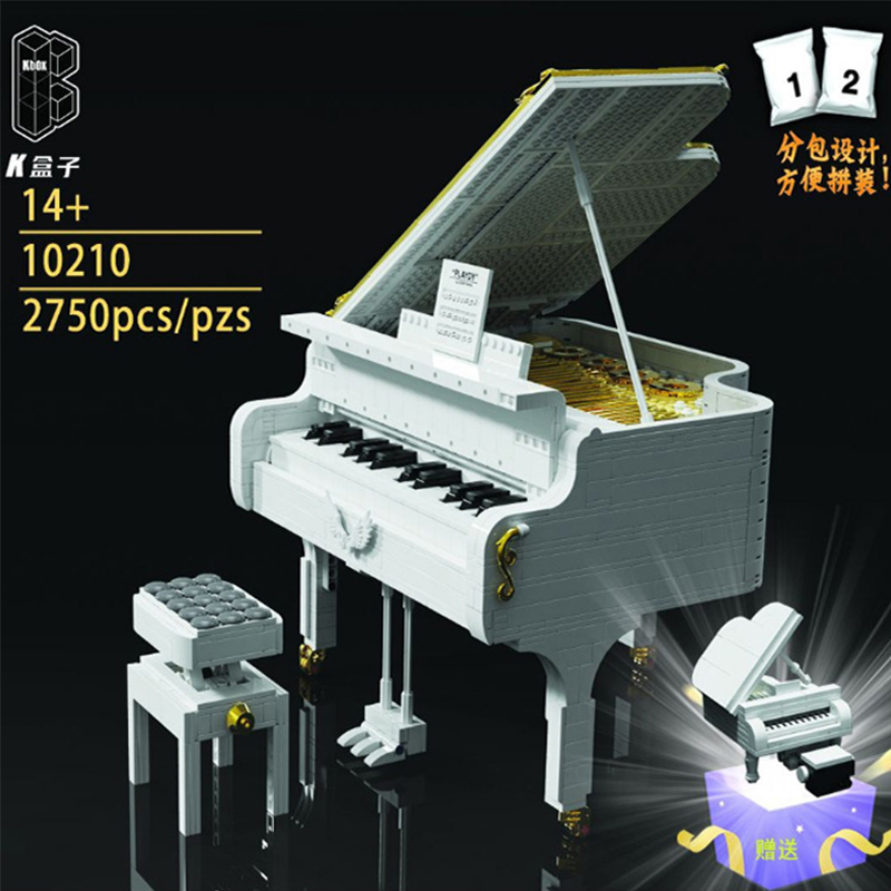 White Piano MOCBRICKLAND 10210 Creator With 2750 Pieces