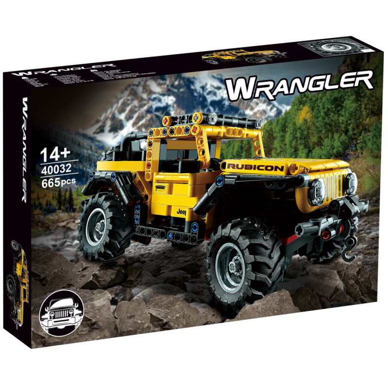 Jeep Wrangler Compatible 42122 MOCBRICKLAND 40032 Technic 665 Pieces