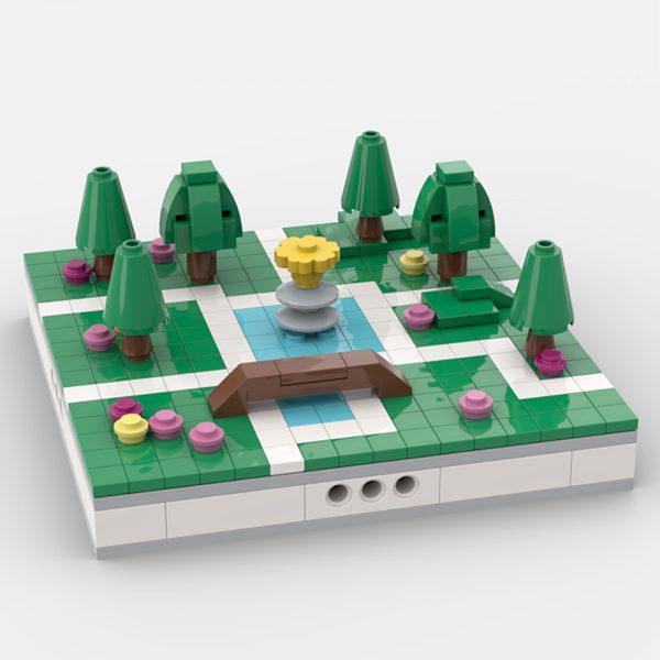 Mini Park for a Modular City MODULAR BUILDING MOC-31580 WITH 322 PIECES