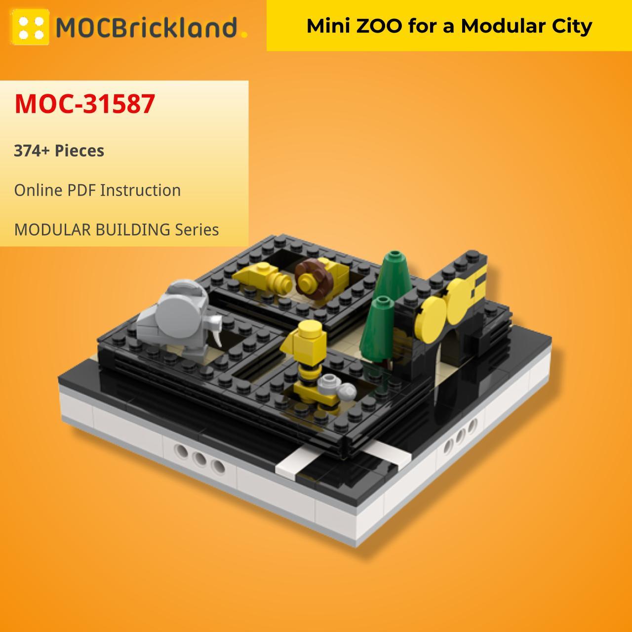 Mini ZOO for a Modular City MODULAR BUILDING MOC-31587 WITH 374 PIECES