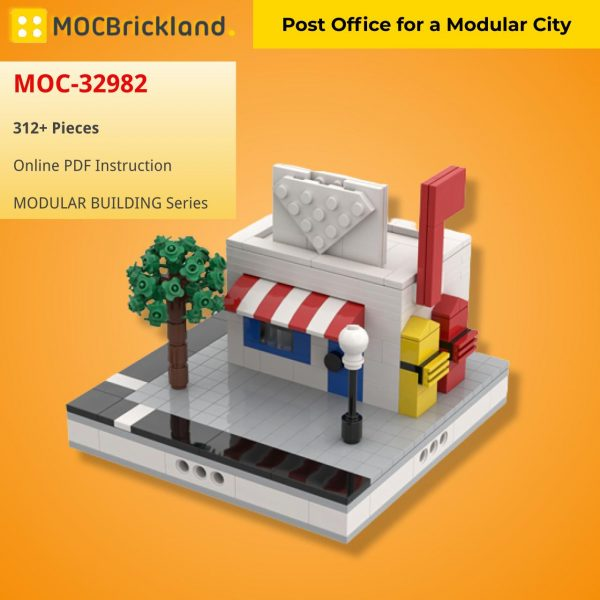Post Office for a Modular City MODULAR BUILDING MOC-32982 WITH 312 PIECES