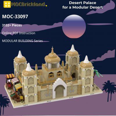 Desert Palace for a Modular Desert MODULAR BUILDING MOC-33097 WITH 3132 PIECES