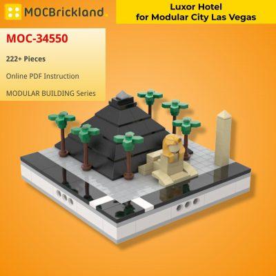 Luxor Hotel for Modular City Las Vegas MODULAR BUILDING MOC-34550 WITH 222 PIECES