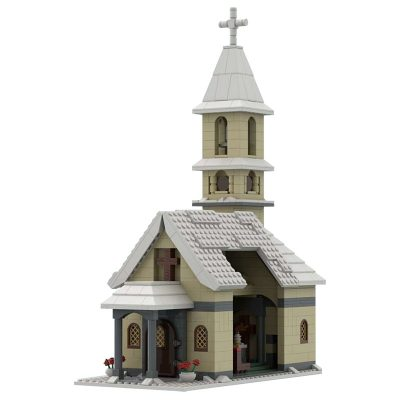Church Winter Village MODULAR BUILDING MOC-39799 WITH 1051 PIECES
