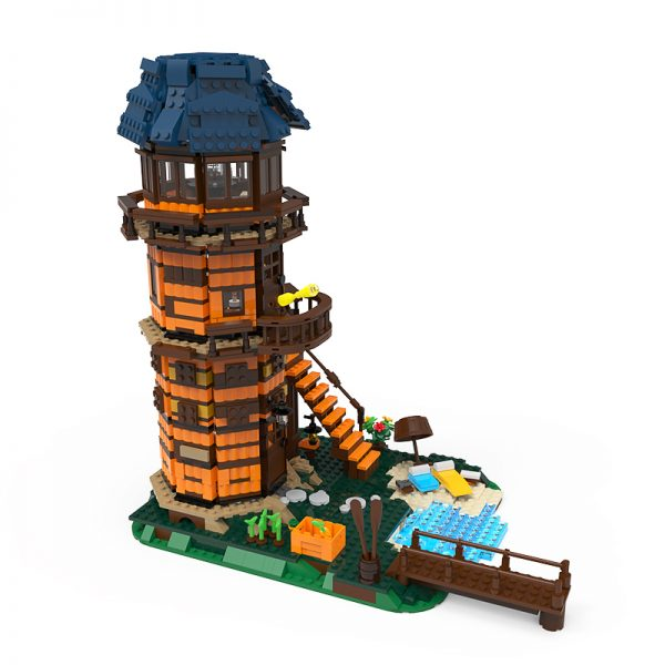 21318-1 Lighthouse MODULAR BUILDING MOC-68088 by Emil_mu with 1677 pieces
