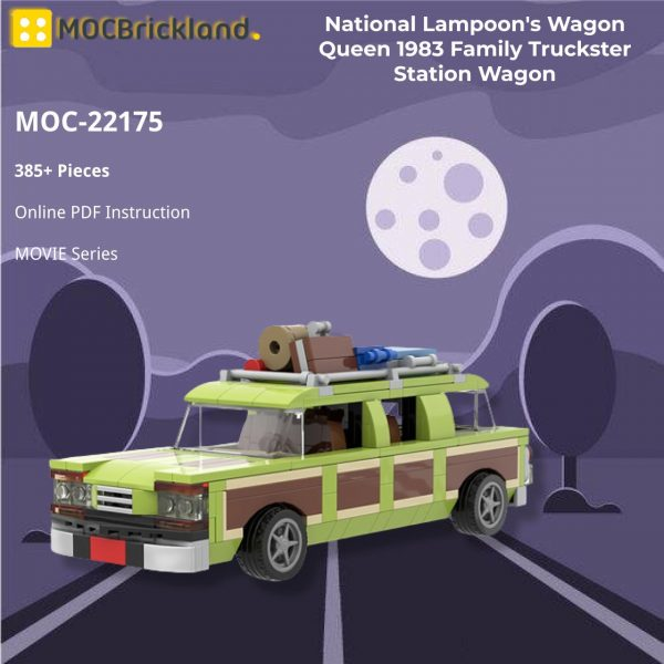 National Lampoon's Wagon Queen 1983 Family Truckster Station Wagon MOVIE MOC-22175 WITH 385 PIECES