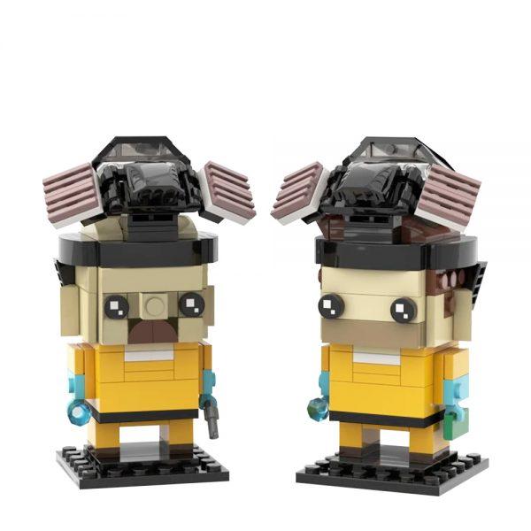 Breaking Bad Brickheadz – Walter White and Jesse Pinkman MOVIE MOC-22534 WITH 240 PIECES