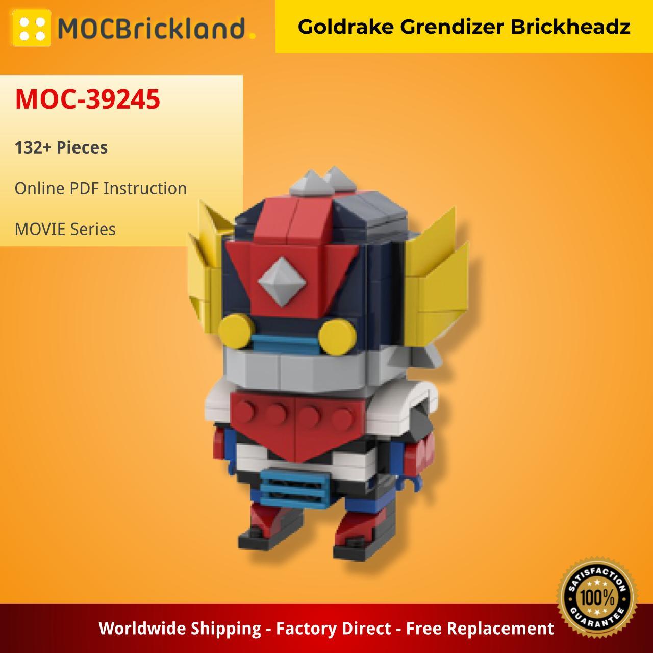 Goldrake Grendizer Brickheadz MOVIE MOC-39245 by RianScotti WITH 132 PIECES