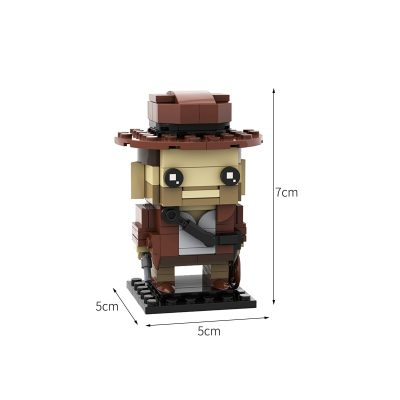 Indiana Jones MOVIE MOC-44641 by Custominstructions WITH 161 PIECES
