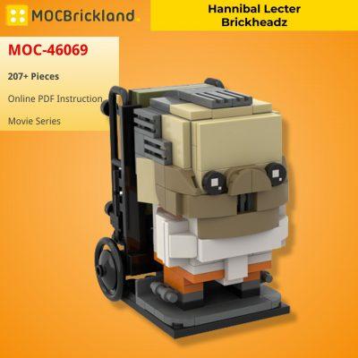 Hannibal Lecter Brickheadz MOVIE MOC-46069 WITH 207 PIECES