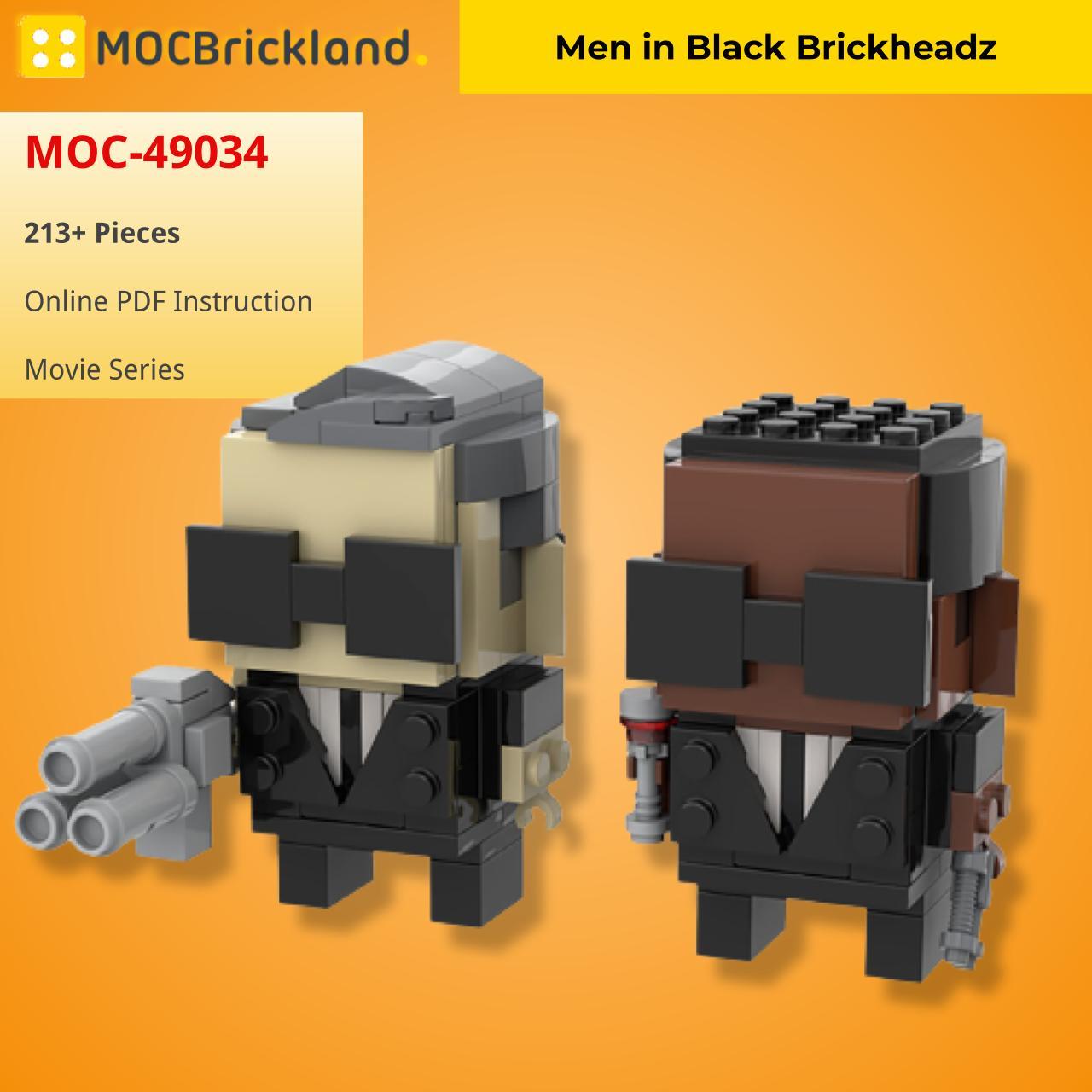Men in Black Brickheadz MOVIE MOC-49034 WITH 213 PIECES