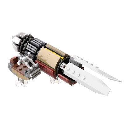 The Marshall's Swoop Bike from The Mandalorian – Version 2.1 MOVIE MOC-55797 WITH 137 PIECES