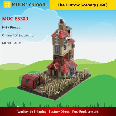 The Burrow Scenery (HP6) MOVIE MOC-85309 by JL.Bricks with 943 pieces