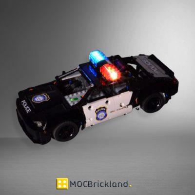 MOC 38140 Dodge Challenger SRT Demon Hellcat Police car by Nura Technic