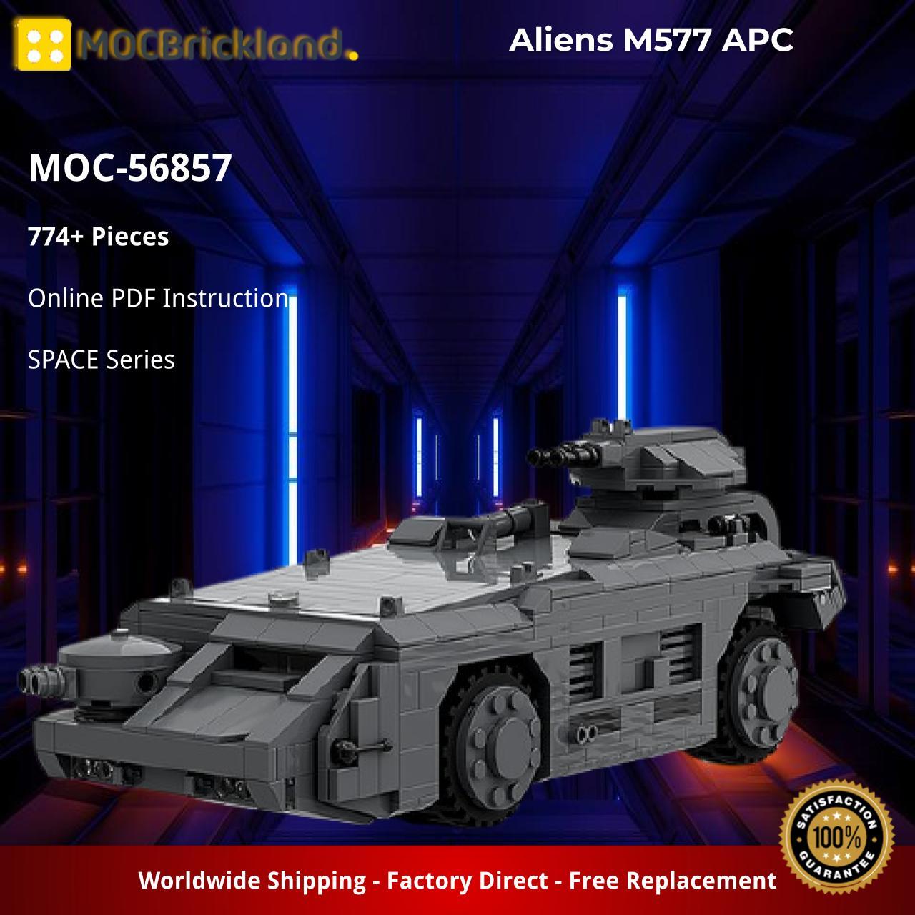 Aliens M577 APC SPACE MOC-56857 by Rick Brickham with 774 pieces