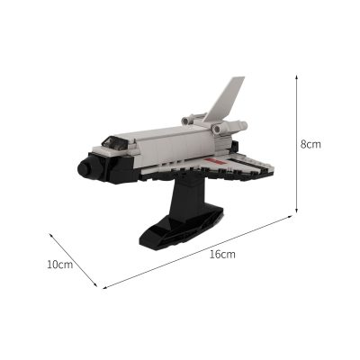 Shuttle Buran 1:220 Scale SPACE MOC-78555 by Zodiac1155 WITH 168 PIECES