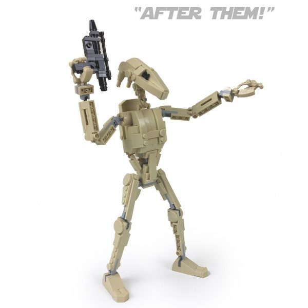 B1 Battle Droid STAR WARS MOC-35343 by 2bricksofficial WITH 319 PIECES