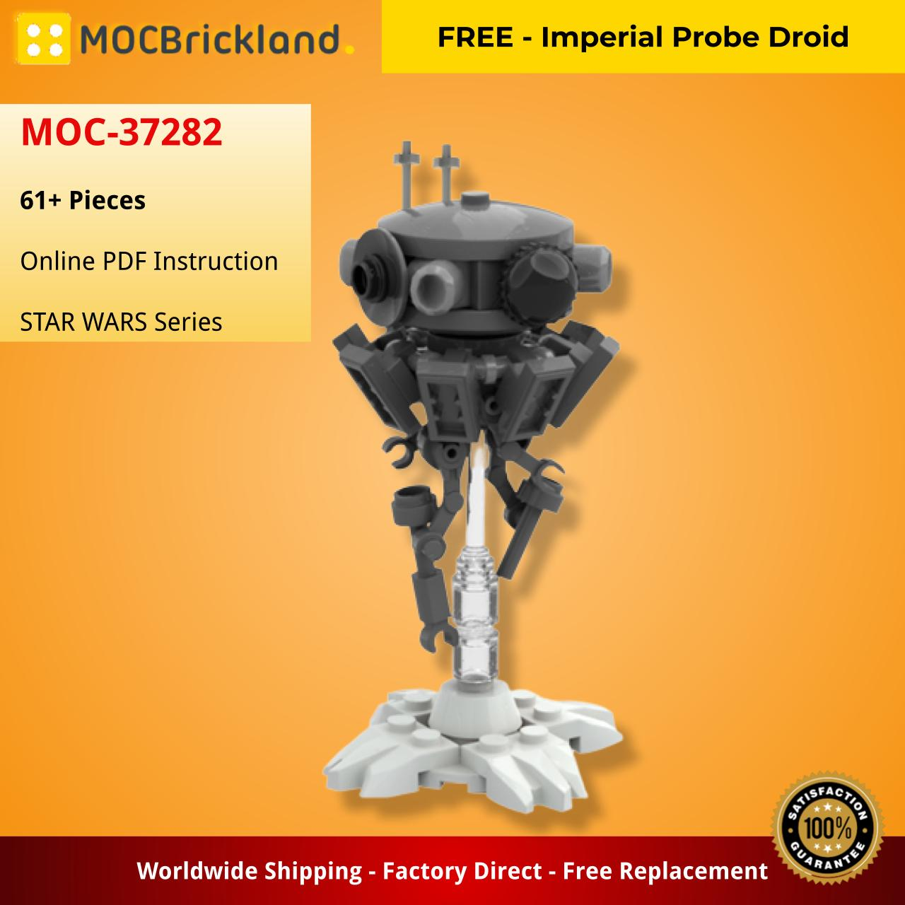 FREE – Imperial Probe Droid STAR WARS MOC-37282 WITH 61 PIECES