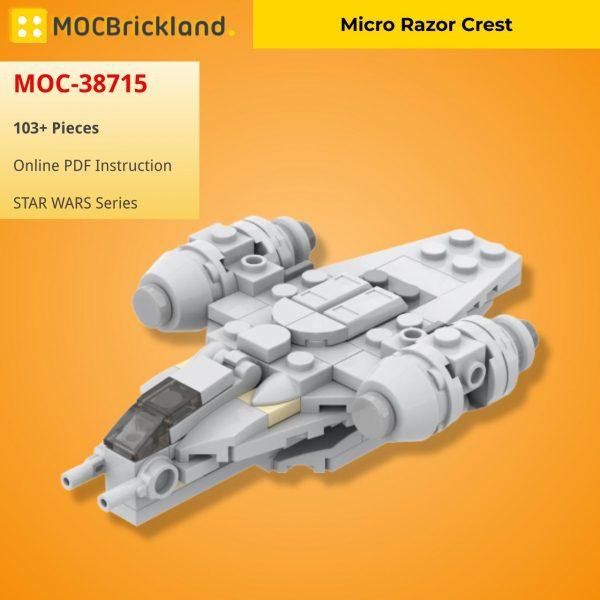 Micro Razor Crest STAR WARS MOC-38715 WITH 103 PIECES