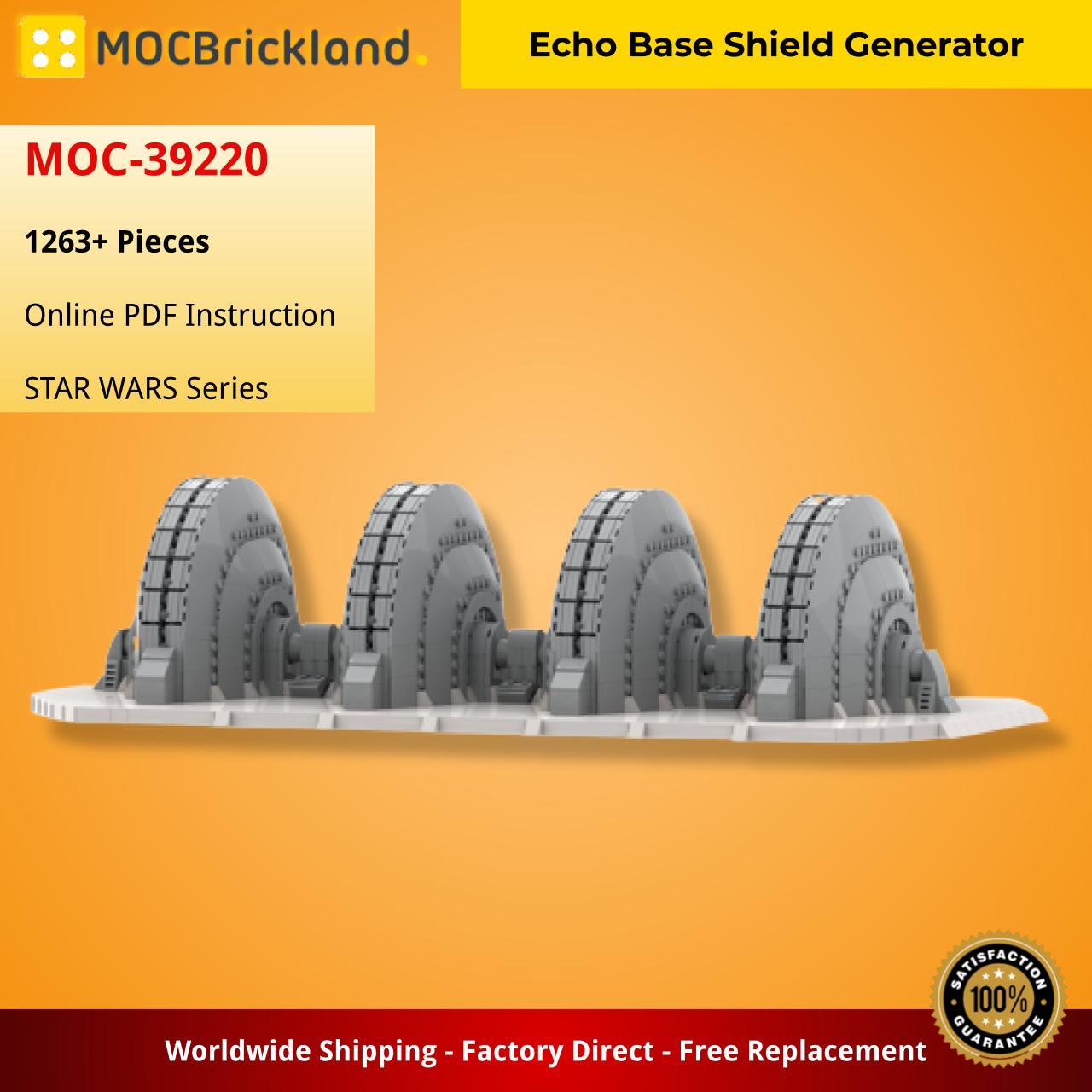 Echo Base Shield Generator STAR WARS MOC-39220 WITH 1263 PIECES