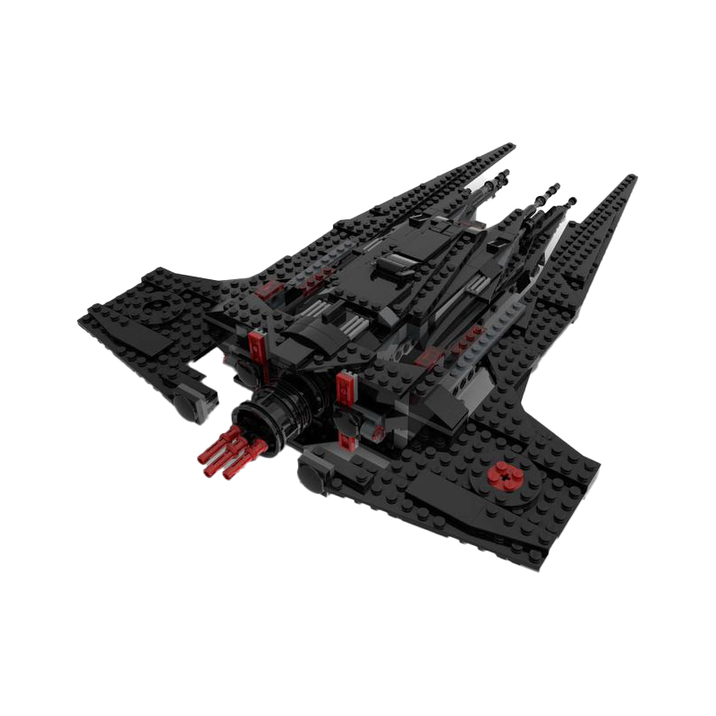 75256 – Mandalorian Komrk Class Fighter – Knights of Ren Edition STAR WARS MOC-40680 by the_bricked_cave WITH 716 PIECES