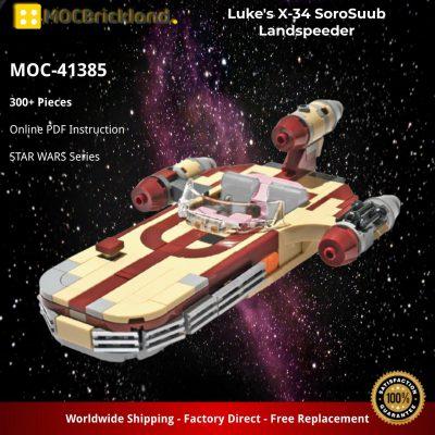 Luke's X-34 SoroSuub Landspeeder STAR WARS MOC-41385 WITH 300 PIECES