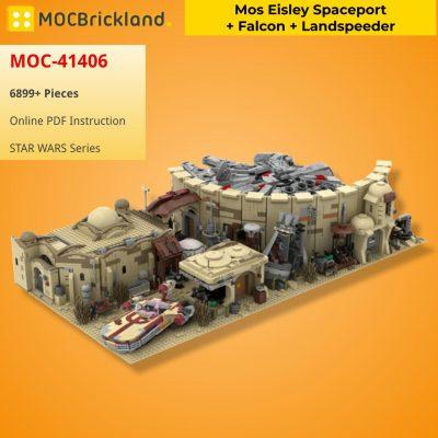 Mos Eisley Spaceport + Falcon + Landspeeder STAR WARS MOC-41406B WITH 6899 PIECES