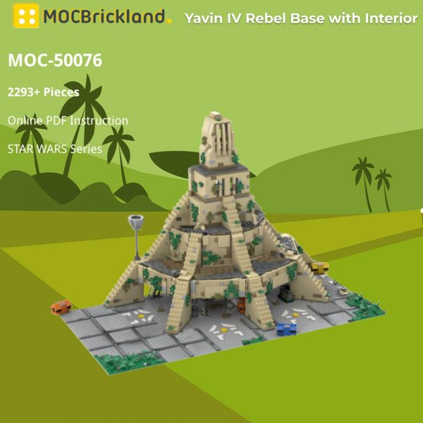 Yavin IV Rebel Base with Interior STAR WARS MOC-50076 WITH 2293 PIECES