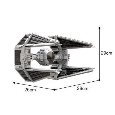 TIE / IN Interceptor UCS (Slim Cockpit) STAR WARS MOC-55661 WITH 1212 PIECES