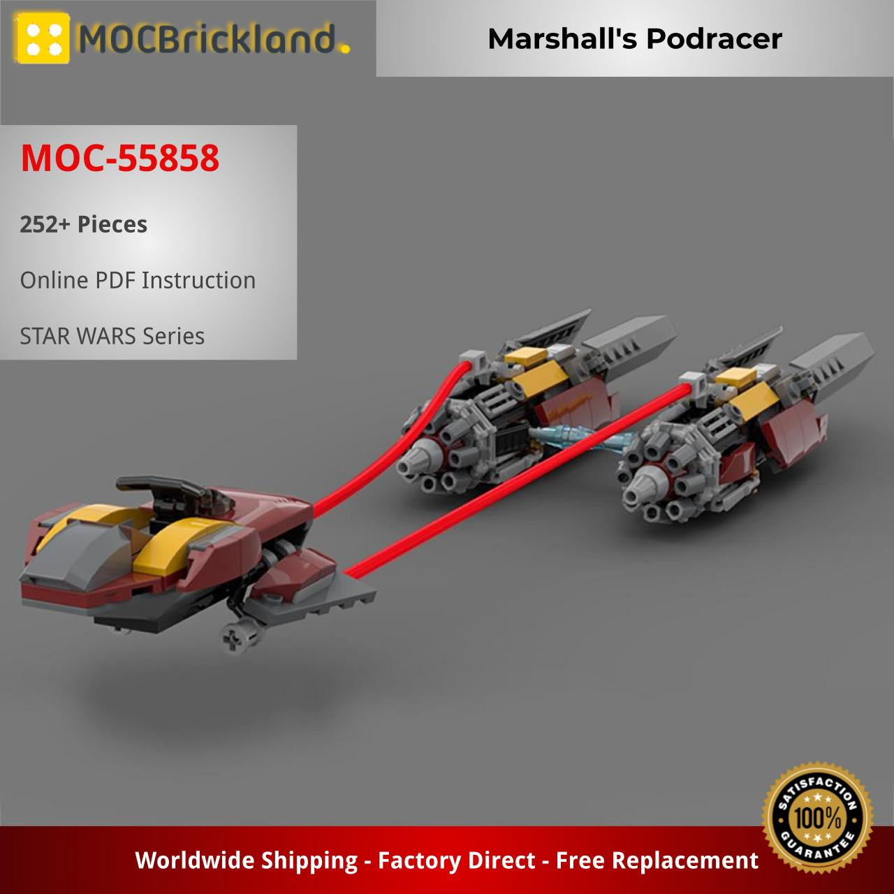 Marshall's Podracer STAR WARS MOC-55858 WITH 252 PIECES