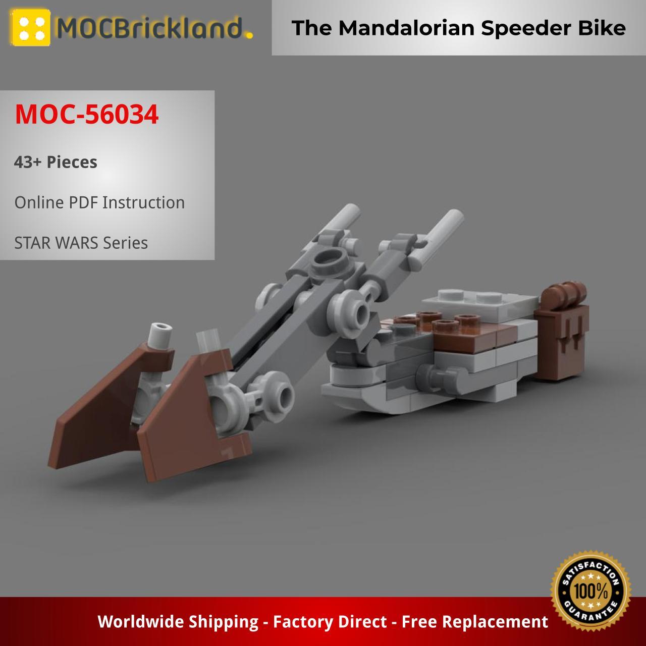 The Mandalorian Speeder Bike STAR WARS MOC-56034 WITH 43 PIECES
