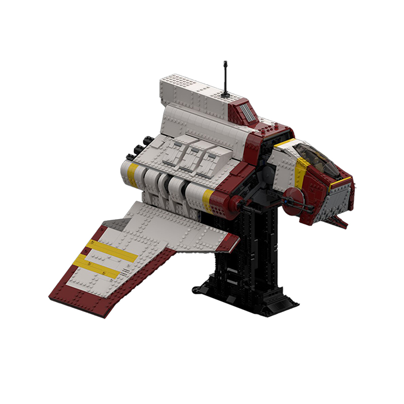 Republic Nu-class Attack Shuttle – the Clone Wars (with Interior) STAR WARS MOC-60420 by Bruxxy WITH 2317 PIECES