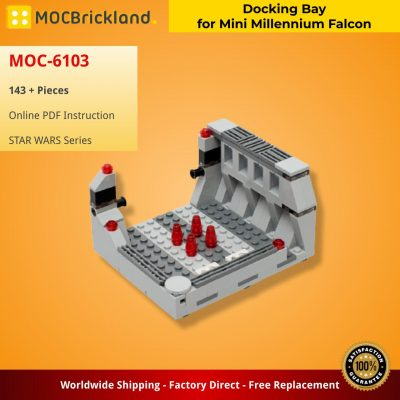 Docking Bay for Mini Millennium Falcon STAR WARS MOC-6103 WITH 143 PIECES