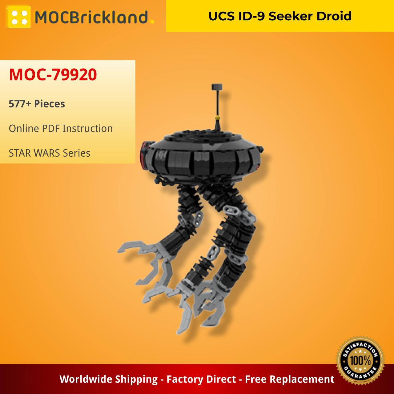 UCS ID-9 Seeker Droid STAR WARS MOC-79920 by Bowdbricks WITH 577 PIECES