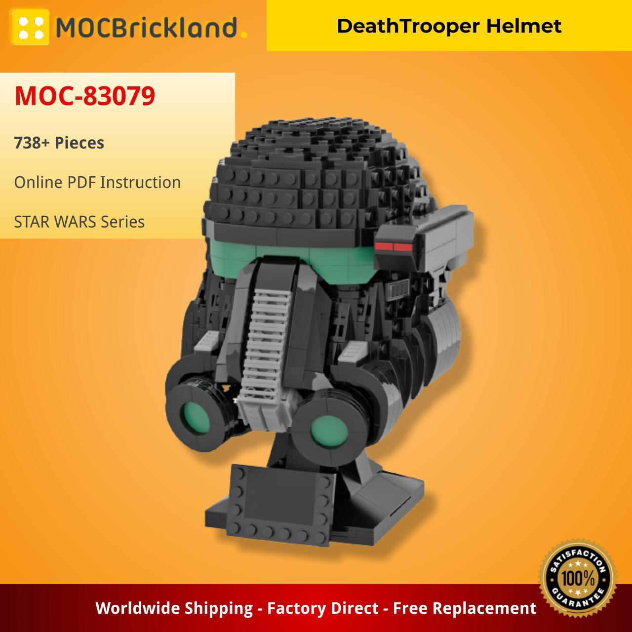DeathTrooper Helmet STAR WARS MOC-83079 by Albo.Lego WITH 738 PIECES