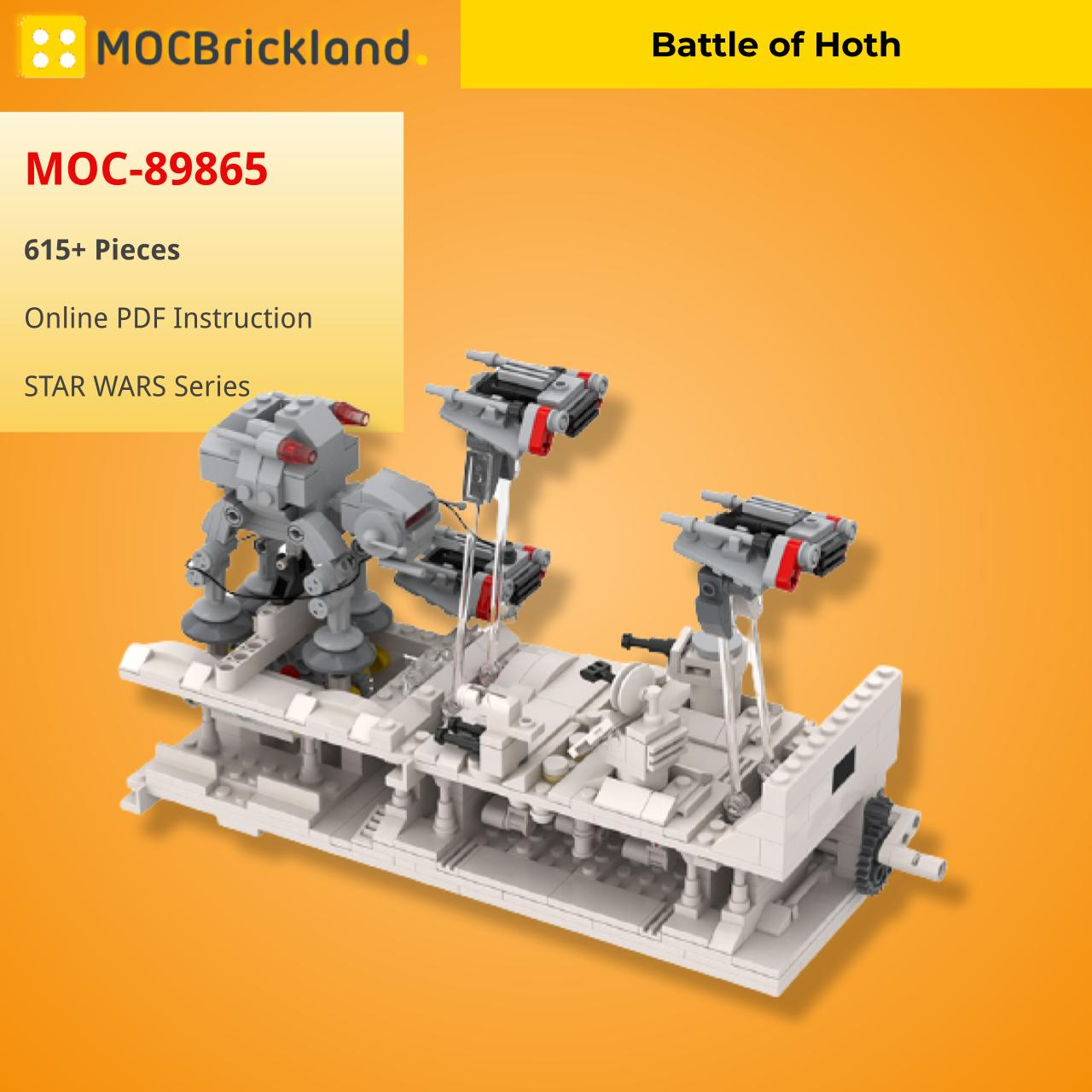 Battle of Hoth STAR WARS MOC-89865 WITH 615 PIECES