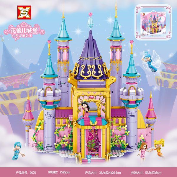 Flower Bud Castle MODULAR BUILDING SX 9070 with 1526 pieces