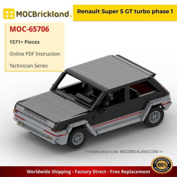 Renault Super 5 GT turbo phase 1 Technic MOC-65706 by tophy_legrand with 1571 Pieces