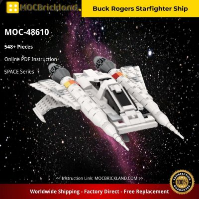Buck Rogers Starfighter Ship SPACE MOC-48610 by CBSNAKE WITH 548 PIECES