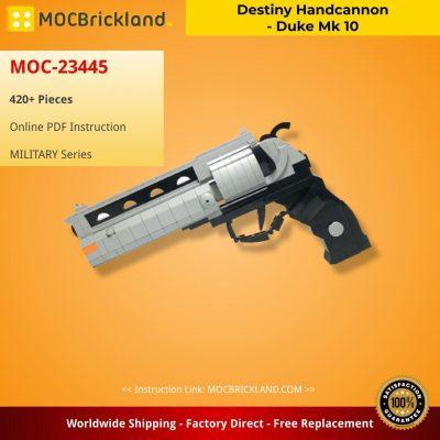 Destiny Handcannon – Duke Mk 10 MILITARY MOC-23445 WITH 420 PIECES