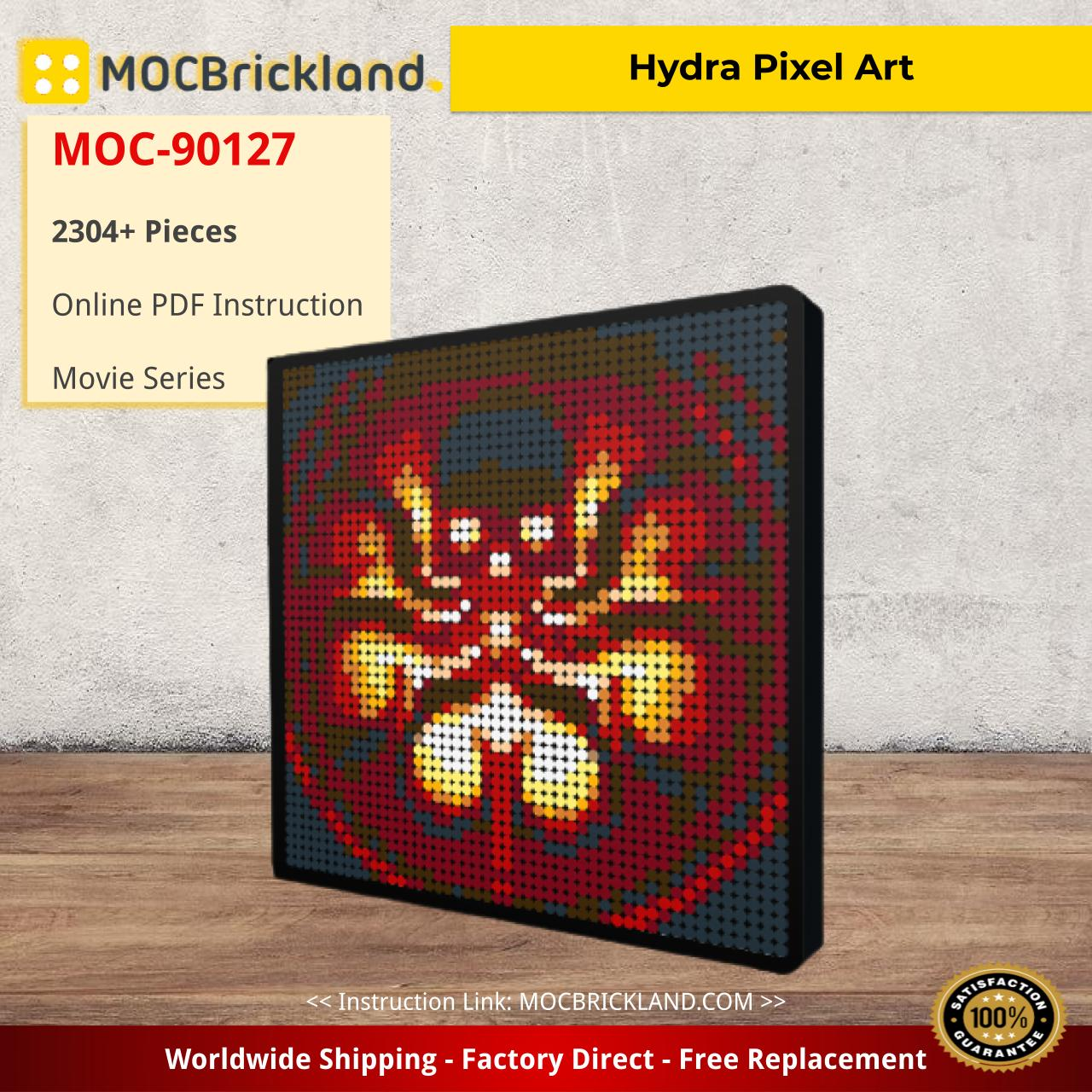 Hydra Pixel Art Creator MOC-90127 with 2304 pieces