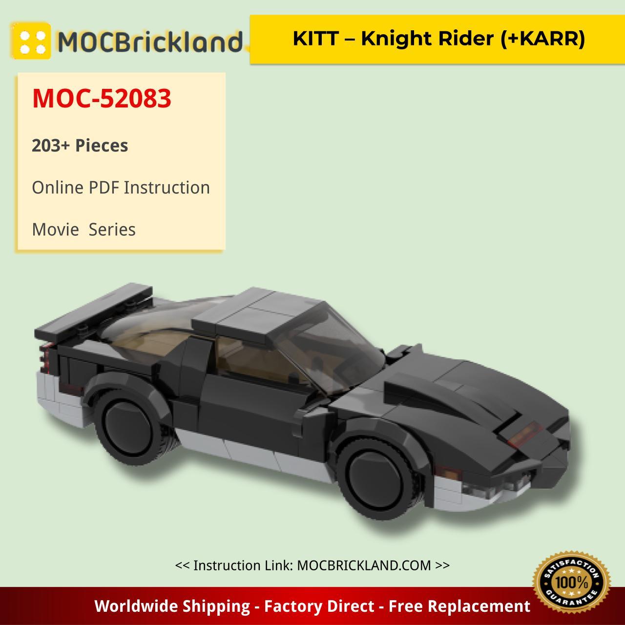 KITT – Knight Rider (+KARR) Movie MOC-52083 by _TLG_ WITH 203 PIECES