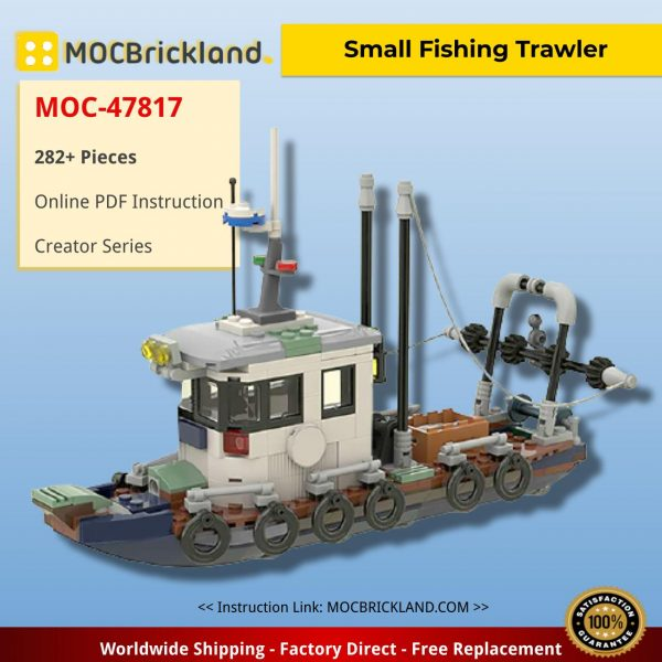 Small Fishing Trawler Creator MOC-47817 by fidi70 WITH 282 PIECES