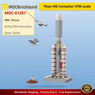 Titan IIIE Centaur 1/110 scale Space MOC-61281 by TheBrickFrontier WITH 909 PIECES