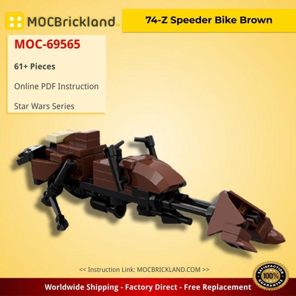 74-Z Speeder Bike Brown Star Wars MOC-69565 by JohndieRocks WITH 61 PIECES