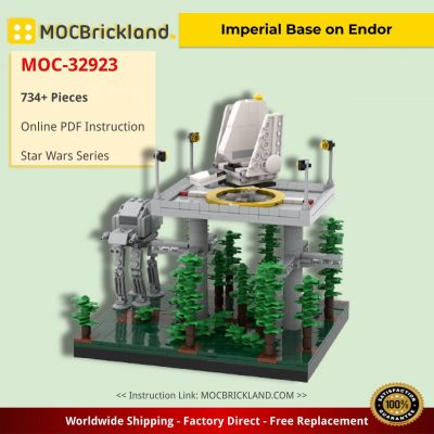 Imperial Base on Endor Star Wars MOC-32923 by @Bas_Solo_Bricks1988 WITH 734 PIECES